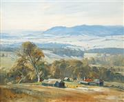 Sale 8538 - Lot 556 - Robert Johnson (1890 - 1964) - Countryscape and Farm House 55 x 65cm