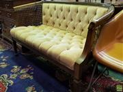 Sale 8562 - Lot 1028 - Bergere Style Two Seater Settee with Buttoned Upholstery