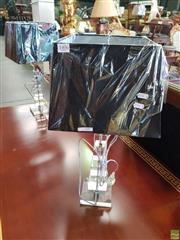 Sale 8566 - Lot 1406 - Pair of Perspex Graduating Cubed Form Table Lamps (5659)