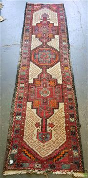 Sale 8593 - Lot 1017 - Afghan Hand Knotted Runner (263 x 69cm)