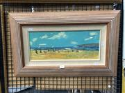 Sale 8803 - Lot 2051 - Donald Fraser Early January, oil on canvas board , 17 x 40cm , signed lower right -
