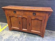 Sale 9006 - Lot 1058 - Timber Sideboard with 2 Doors & Drawers (h:94 x w:150 x d:46cm)