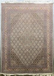Sale 9068 - Lot 1072 - Pink Cream & Green Tone Persian Carpet With Surrounding Border & Central Medallion (203 x 151cm)