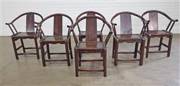 Sale 9255 - Lot 1348 - Set of 6 Chinese horseshoe chairs (h:84 x w:60 x d:60cm)