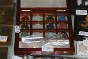 Sale 8169 - Lot 2304 - 12 Gemstone Heart Set Boxed
