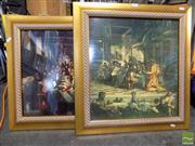Sale 8407T - Lot 2045 - Framed Prints (2) of The Last Supper and Wedding at Cana by Tintoretto