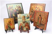 Sale 8701 - Lot 368 - Painted Icon Collection (5)