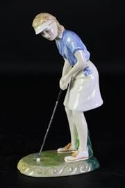 Sale 8985 - Lot 3 - Royal Doulton Winning Putt figure (HN3279, H21cm)