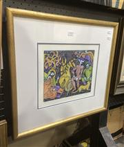 Sale 9091 - Lot 2025 - A. Smith Don Quixotecolour etching and aquatint, frame: 44 x 49 cm, signed lower right