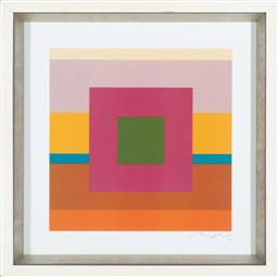 Sale 9239H - Lot 67 - A contemporary print in box frame signed Baptist, framed size 46 x 46cm