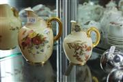 Sale 8330T - Lot 124 - Royal Worcester Flat Back Pitcher with a Smaller Example