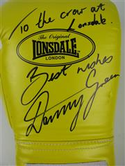 Sale 8450S - Lot 799 - Danny Green - signed Lonsdale 16 oz. Boxing Glove