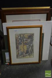 Sale 8530 - Lot 2037 - Collection of Prints & Watercolours Various Sizes (7)