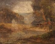 Sale 8642A - Lot 5080 - Naylor Gill (1873 - c1945) - River Crossing Scene 42 x 52cm