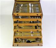 Sale 8897 - Lot 96 - Extensive German 800 Silver Cutlery Setting with Christofle Additions