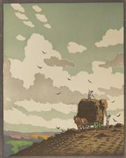 Sale 9078A - Lot 5063 - John Hall Thorpe (1874-1947) (2 works) - Haymakers 33 x 27 cm (sheet: 43.5 x 32.5 cm)