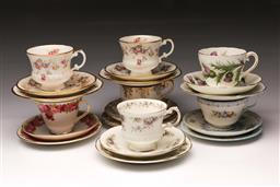 Sale 9110 - Lot 349 - Set of 7 trios inc Royal Doulton, Shelley and others
