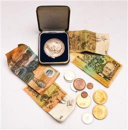 Sale 9128 - Lot 100 - A collection Of Australian Notes, Coins and Medallions