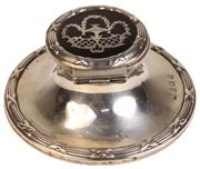 Sale 7978 - Lot 33 - English Hallmarked Sterling Silver & Tortoise Shell Ink Well