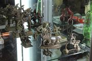 Sale 8195 - Lot 69 - Indian Bronze Cow Statue with Various Bronze Figural Groups