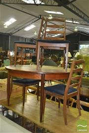 Sale 8398 - Lot 1073 - G-Plan Teak Table and Four Ladder Back Chairs