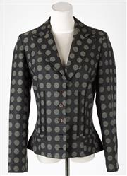Sale 8541A - Lot 12 - A Kenzo Jungle single breasted blazer with flared waist, size 42