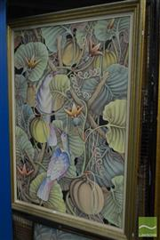 Sale 8537 - Lot 2158 - Balinese School, Tropical Rainforest, acrylic on canvas, frame size: 152 x 106.5cm, signed lower right