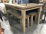 Sale 8717 - Lot 1064 - Timber Table and 2 Benches
