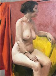 Sale 9016A - Lot 5033 - Percy Leason (1889 - 1959) - Seated Nude 30 x 25 cm