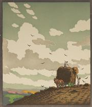 Sale 9078A - Lot 5064 - John Hall Thorpe (1874-1947) (2 works) - Haymakers 33 x 27 cm (sheet: 43.5 x 32.5 cm)
