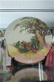 Sale 8032 - Lot 8 - Royal Doulton Under The Greenwood Tree Charger