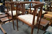 Sale 8115 - Lot 1438 - Pair of Edwardian Maple Tub Chairs