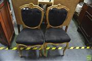 Sale 8328 - Lot 1035 - Pair of Gilt Framed Bedroom Chairs