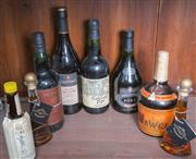 Sale 8489A - Lot 62 - A small group of alcohol inc; 2 x bottles of port, 2 x bottles of sherry, 1 x muscat, 2 x butterscotch schnapps