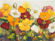 Sale 8497A - Lot 5091 - Juanita Ward Collins - Field of Poppies 43.5 x 58cm