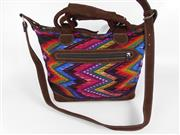 Sale 8514H - Lot 5 - Guatemalan Hand-Made Leather & Woven Overnight Bag