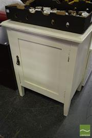 Sale 8532 - Lot 1332 - White Painted Timber Pot Cupboard