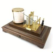 Sale 8562R - Lot 135 - Seismograph in Timber and Bevelled Glass Case (W: 36cm H: 22cm)
