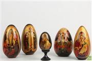 Sale 8563 - Lot 291 - Russian Religious Hand Painted Egg Collection (5)