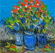 Sale 8972A - Lot 5018 - Kevin Charles (Pro) Hart (1928 - 2006) - Still Life - Wildflowers and Pots 29 x 30 cm