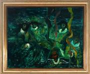 Sale 8992 - Lot 508 - William Drew (1928 - 1983) - Harlequins 52 x 63.5 cm (frame: 64 x 75 x 4 cm)