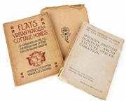 Sale 9048A - Lot 89 - Three early volumes to include Flats, Urban Houses & Cottage Homes Pub. Hodder & Stouton 1906, Guild 1888, School of Handicraft...
