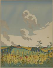 Sale 9078A - Lot 5070 - John Hall Thorpe (1874-1947) - Summer 35.5 x 28 cm (sheet: 45.5 x 35.5 cm)