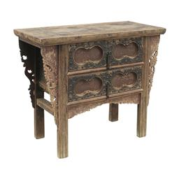 Sale 9216S - Lot 22 - A rare vintage timber Chinese console table from Shaanxi Province, Height 88cm x Width 106cm x Depth 48cm