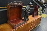 Sale 8039 - Lot 1002 - Timber Screen and A Shelf