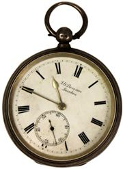 Sale 8065 - Lot 59 - JW Benson Ludgate English Hallmarked Sterling Silver Victorian Pocket Watch