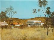 Sale 8538 - Lot 542 - Ray Crooke (1922 - 2015) - Post Office Hotel Chillagoe North Queensland 61 x 76cm