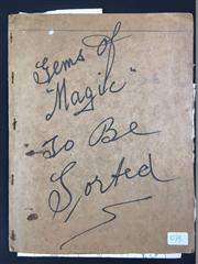 Sale 8539M - Lot 107B - Gems of Magic, listed by Abson to be sorted - a small folio containing clippings and notes, mostly from the Preston Institute of...