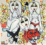 Sale 8853A - Lot 5044 - Yosi Messiah (1964 - ) - Flower Girls 102 x 102cm
