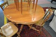 Sale 8115 - Lot 1247 - Timber Extension Dining Table on Quadraform Base